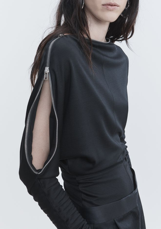 ALEXANDER WANG ASYMMETRIC DOLMAN SLEEVE TOP 上衣 Adult 12_n_r