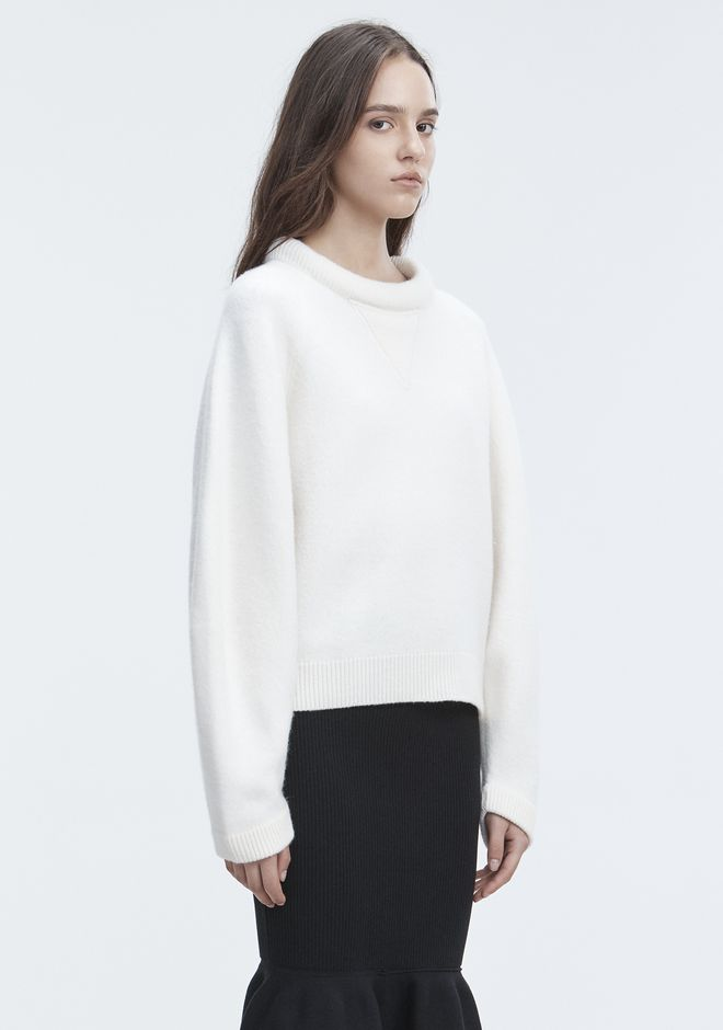 T by ALEXANDER WANG BOILED WOOL SWEATER TOP Adult 12_n_a