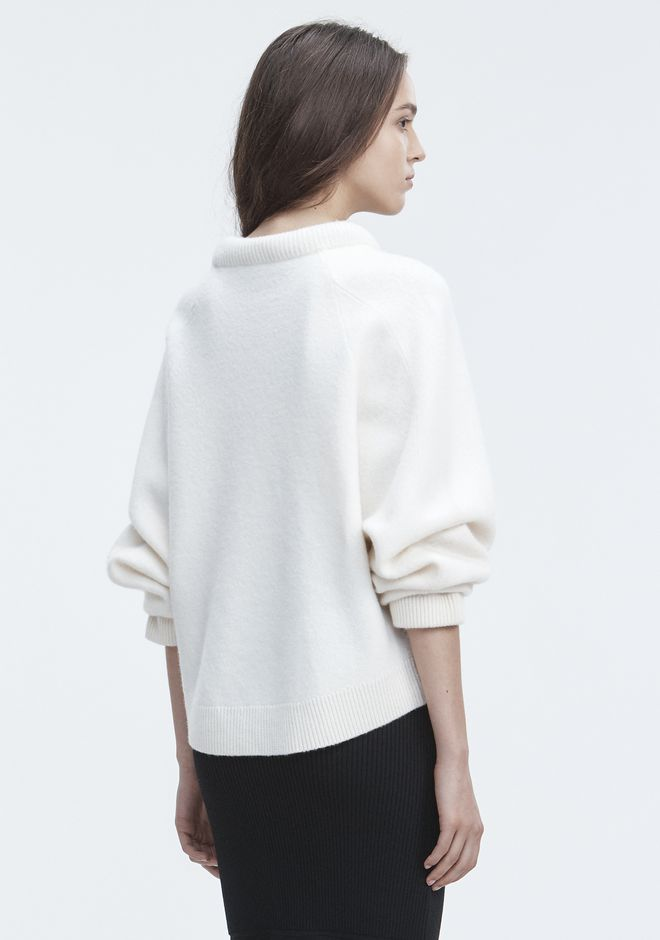T by ALEXANDER WANG BOILED WOOL SWEATER TOP Adult 12_n_d