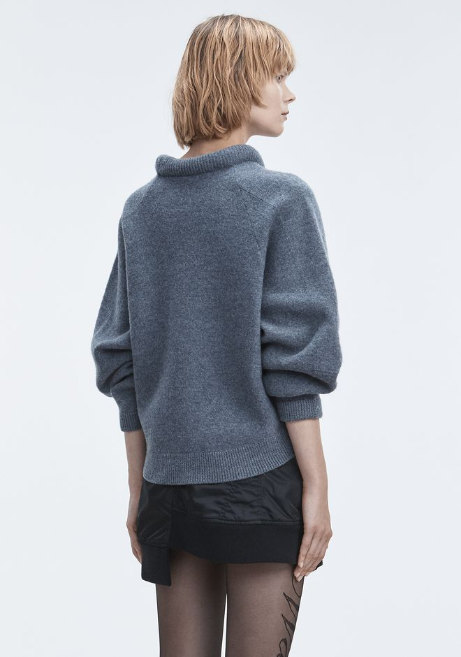 T by ALEXANDER WANG BOILED WOOL SWEATER HAUTS Adult 12_n_d