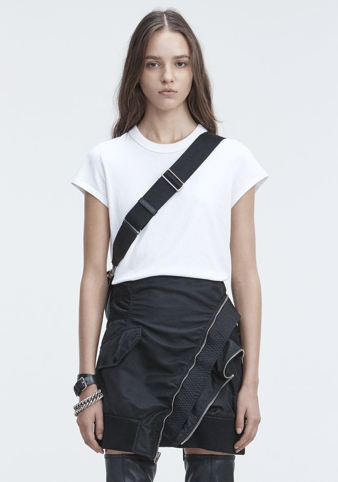 T by ALEXANDER WANG SHORT SLEEVE BODYSUIT TOP Adult 12_n_e