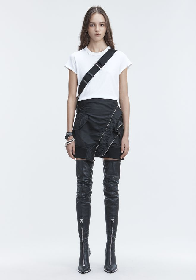 T by ALEXANDER WANG SHORT SLEEVE BODYSUIT TOP Adult 12_n_f