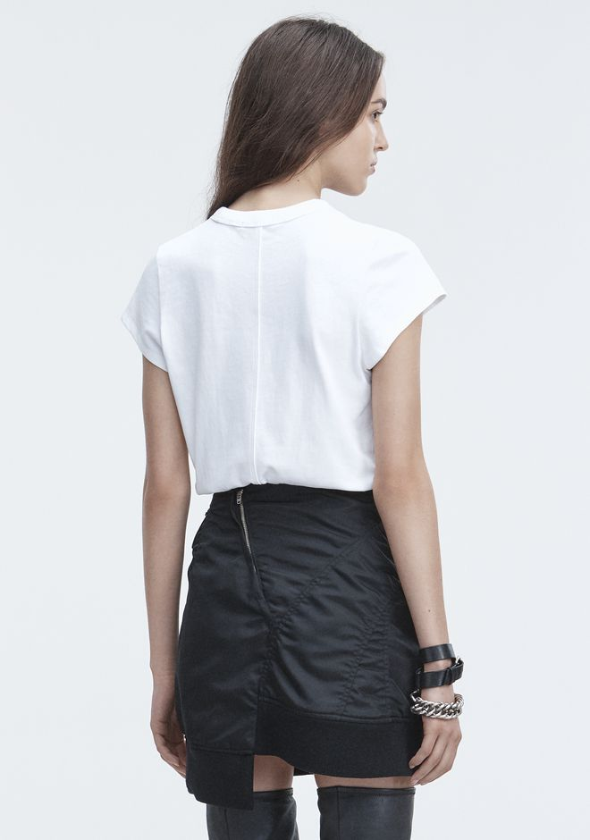 T by ALEXANDER WANG SHORT SLEEVE BODYSUIT TOP Adult 12_n_r