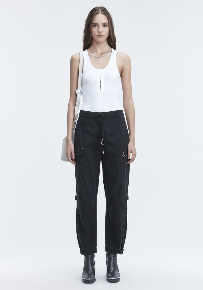 T by ALEXANDER WANG RIBBED BODYSUIT TOP Adult 12_n_f