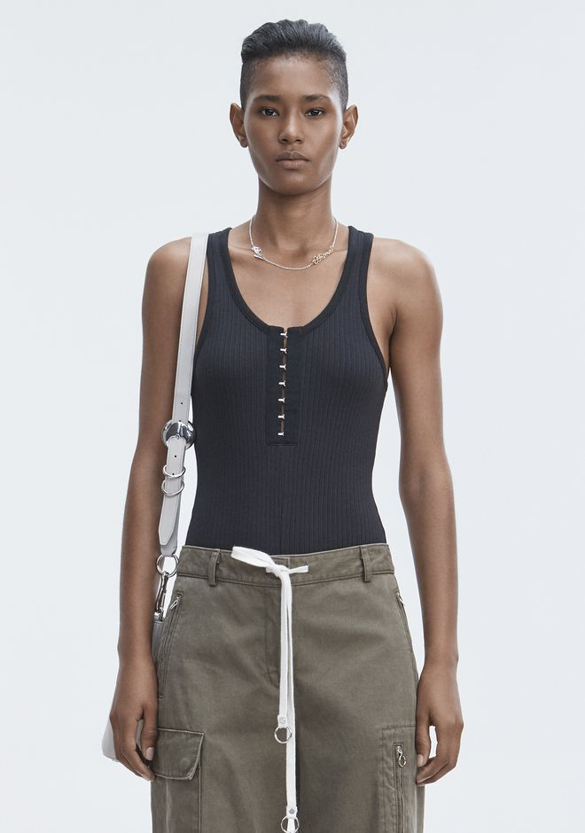 T by ALEXANDER WANG RIBBED BODYSUIT TOP Adult 12_n_e