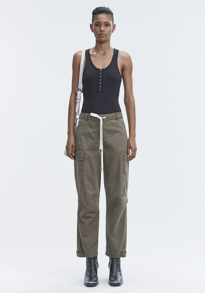 T by ALEXANDER WANG RIBBED BODYSUIT HAUTS Adult 12_n_f