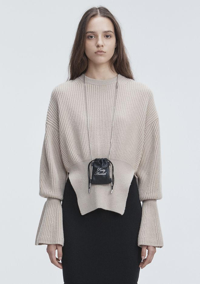 ALEXANDER WANG TOPS Women RIBBED WOOL PULLOVER