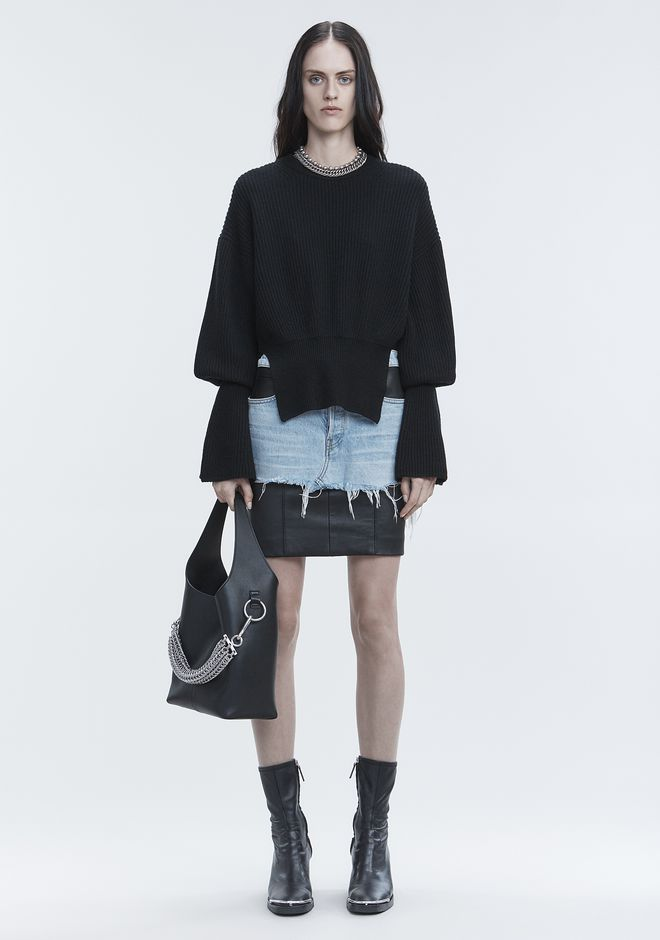 ALEXANDER WANG RIBBED WOOL PULLOVER TOP Adult 12_n_f