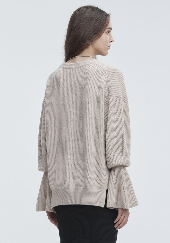 ALEXANDER WANG RIBBED WOOL PULLOVER TOP Adult 12_n_d