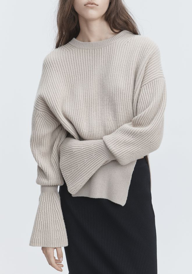 ALEXANDER WANG RIBBED WOOL PULLOVER TOP Adult 12_n_r