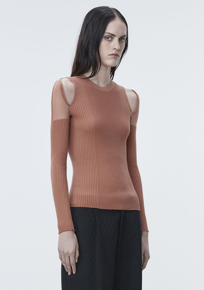 ALEXANDER WANG SHEER SHOULDER PULLOVER Crewneck Adult 12_n_a