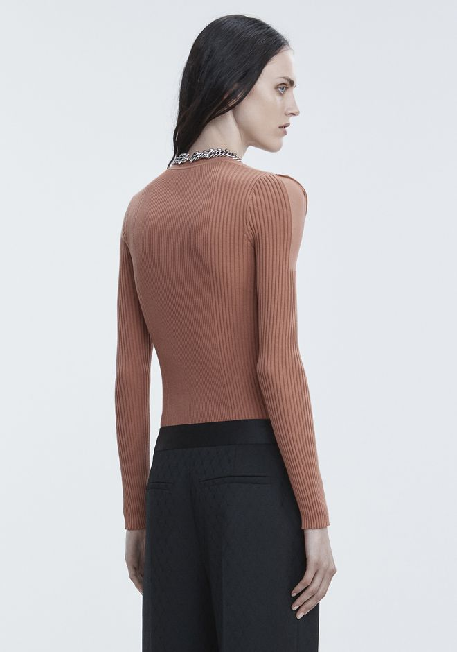 ALEXANDER WANG SHEER SHOULDER PULLOVER Crewneck Adult 12_n_d