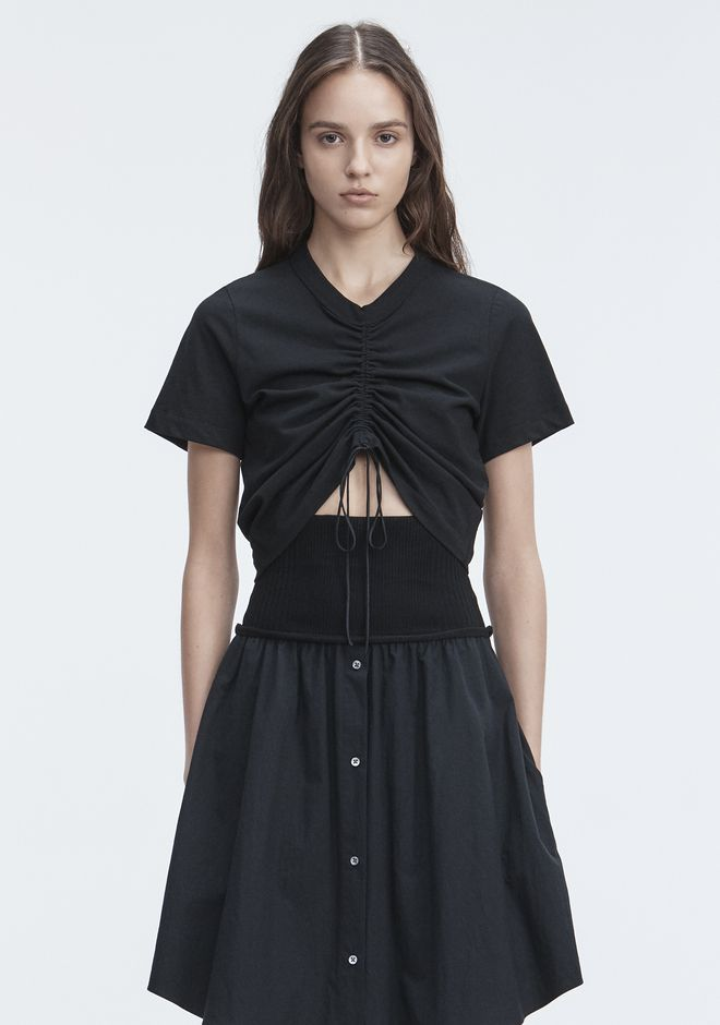 T by ALEXANDER WANG t-by-alexander-wang-sale GATHERED FRONT TSHIRT