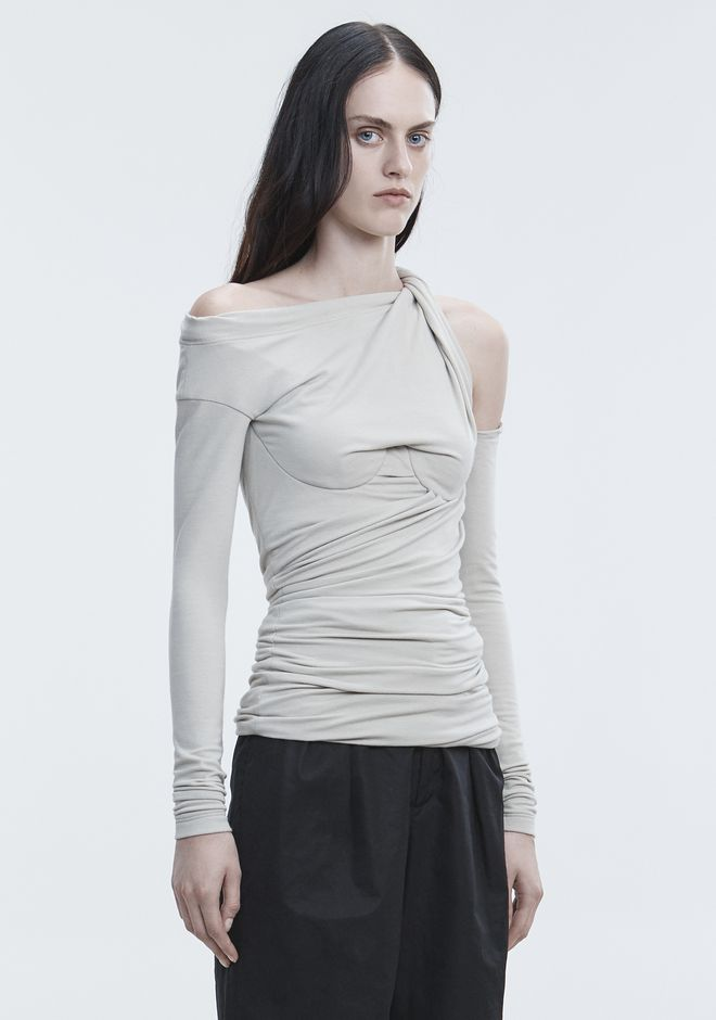 ALEXANDER WANG BUSTIER RUCHED TOP HAUTS Adult 12_n_a