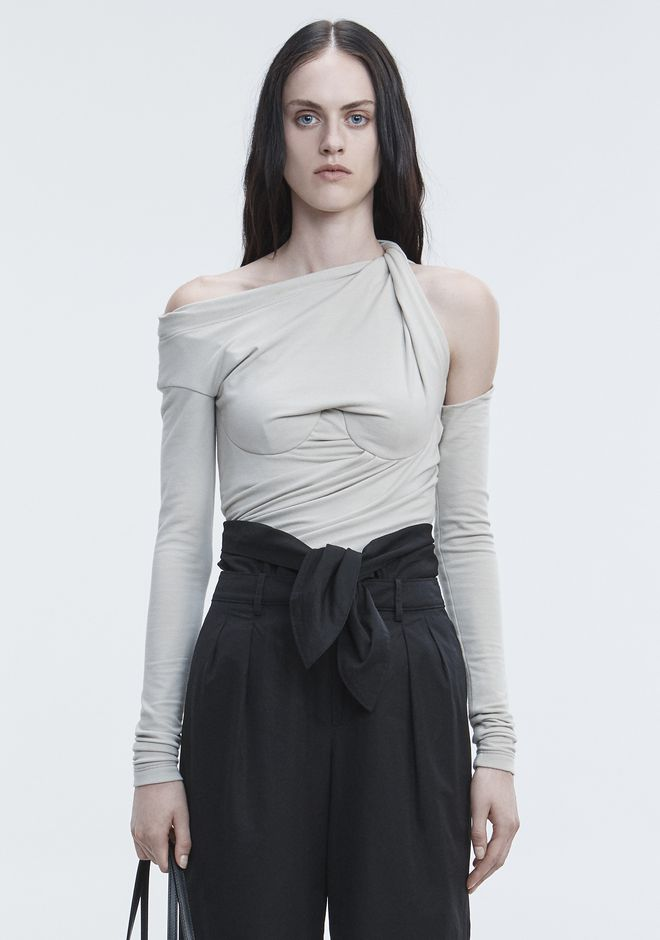 ALEXANDER WANG BUSTIER RUCHED TOP HAUTS Adult 12_n_e