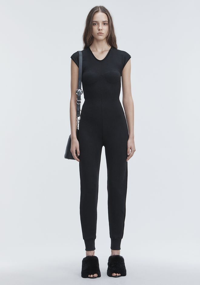 ALEXANDER WANG new-arrivals-ready-to-wear-woman SLEEVELESS CATSUIT