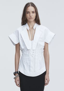 DECONSTRUCTED POPLIN SHIRT
