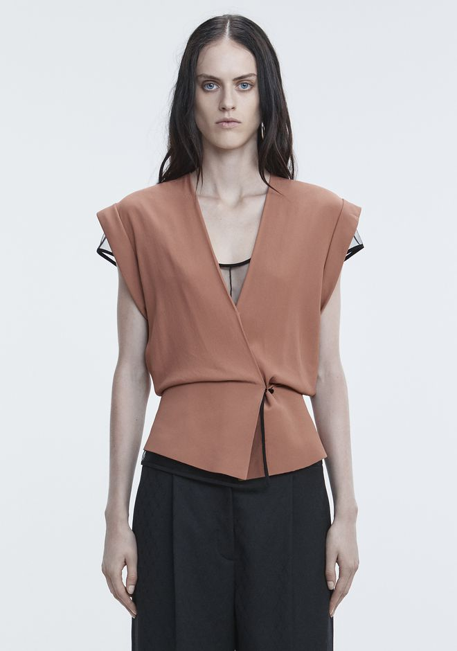 ALEXANDER WANG ready-to-wear-sale V-NECK PEPLUM TOP