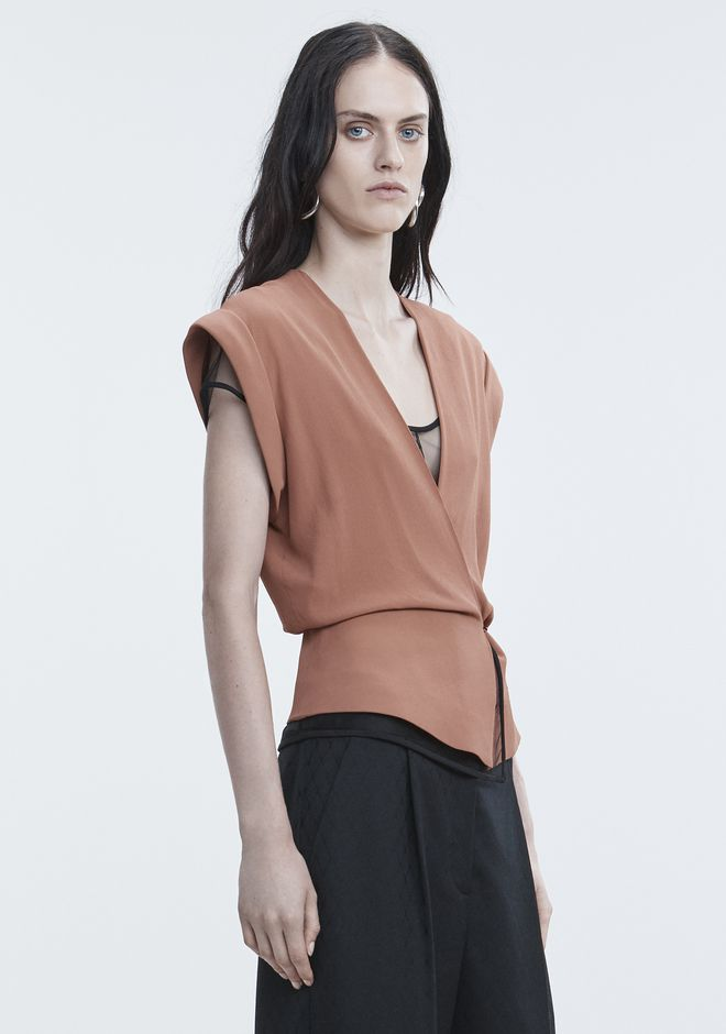 ALEXANDER WANG V-NECK PEPLUM TOP TOP Adult 12_n_a