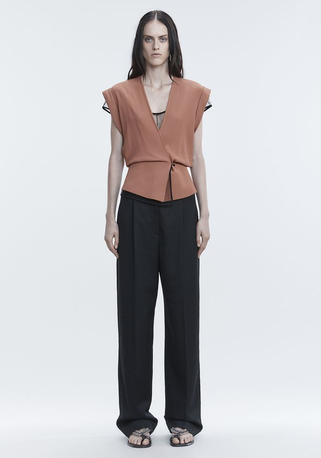 ALEXANDER WANG V-NECK PEPLUM TOP TOP Adult 12_n_f