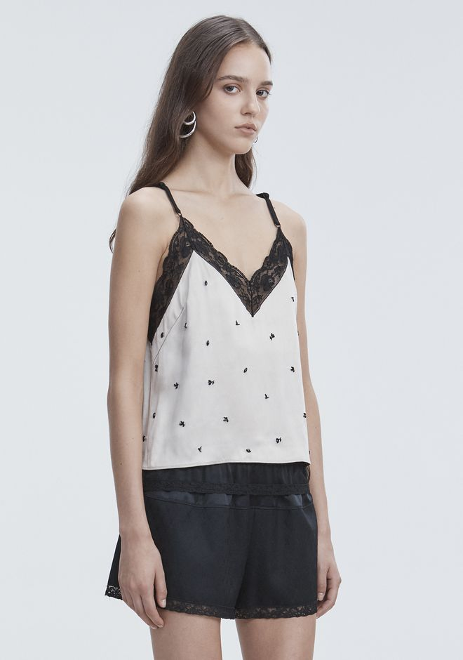 ALEXANDER WANG SATIN SLIP TOP  TOP Adult 12_n_a