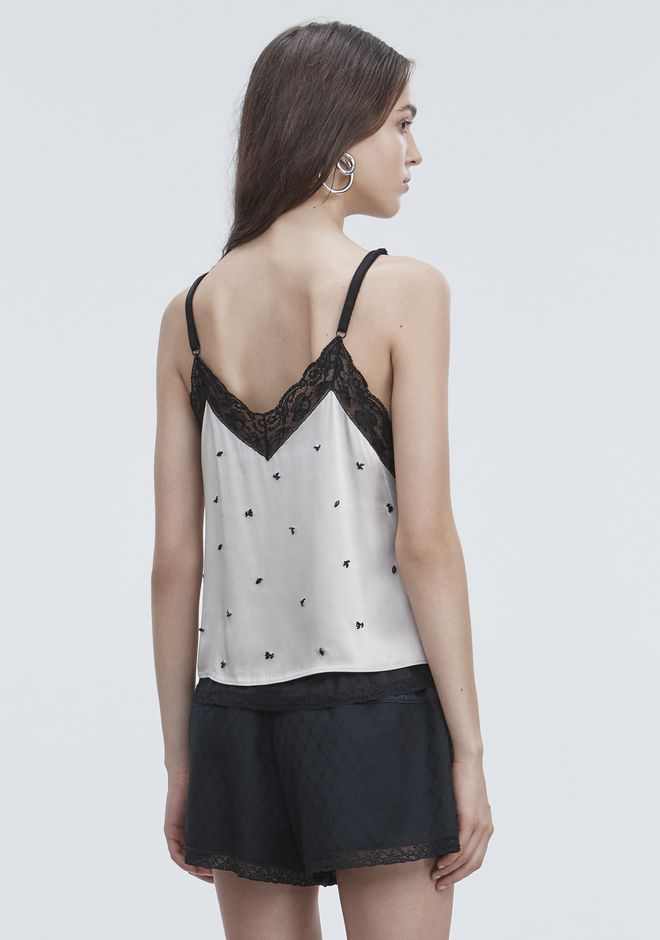ALEXANDER WANG SATIN SLIP TOP  TOP Adult 12_n_d