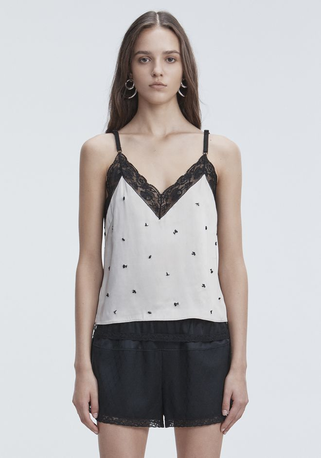 ALEXANDER WANG SATIN SLIP TOP  TOP Adult 12_n_e