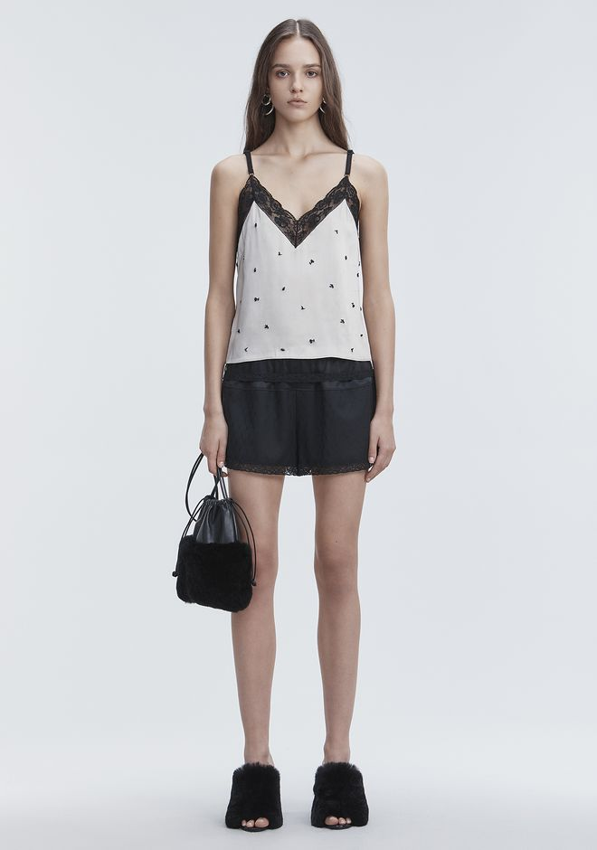 ALEXANDER WANG SATIN SLIP TOP  TOP Adult 12_n_f