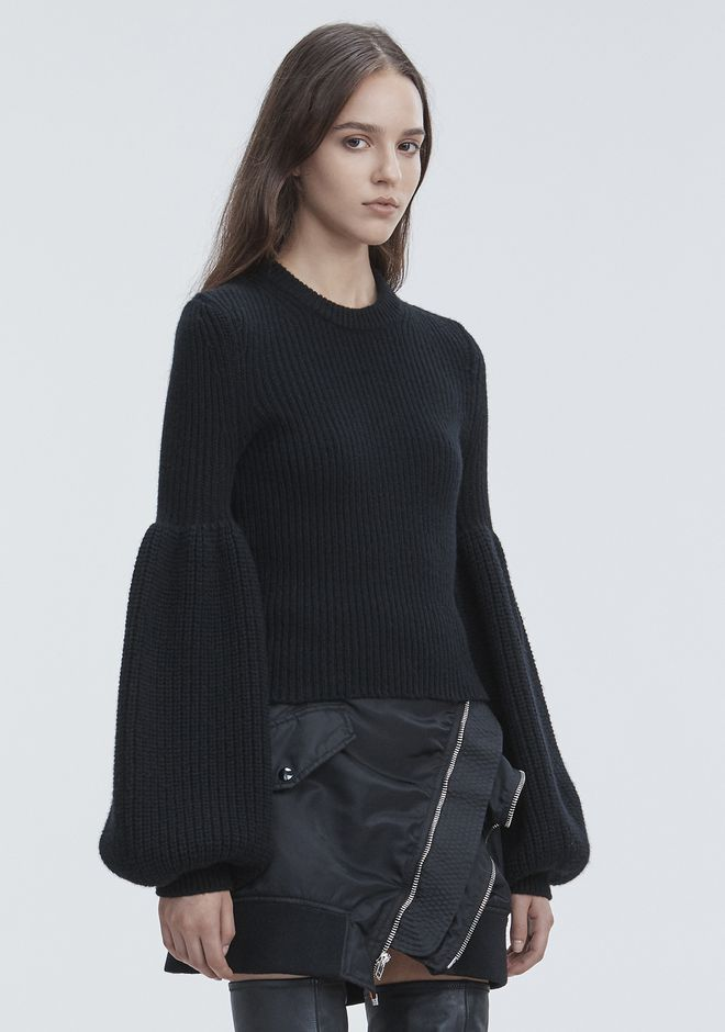 ALEXANDER WANG WOOL CASHMERE PULLOVER TOP Adult 12_n_a