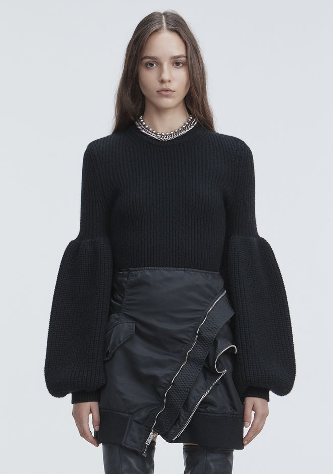 ALEXANDER WANG WOOL CASHMERE PULLOVER TOP Adult 12_n_e