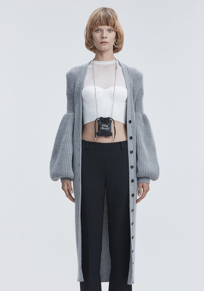 ALEXANDER WANG new-arrivals WOOL CASHMERE CARDIGAN