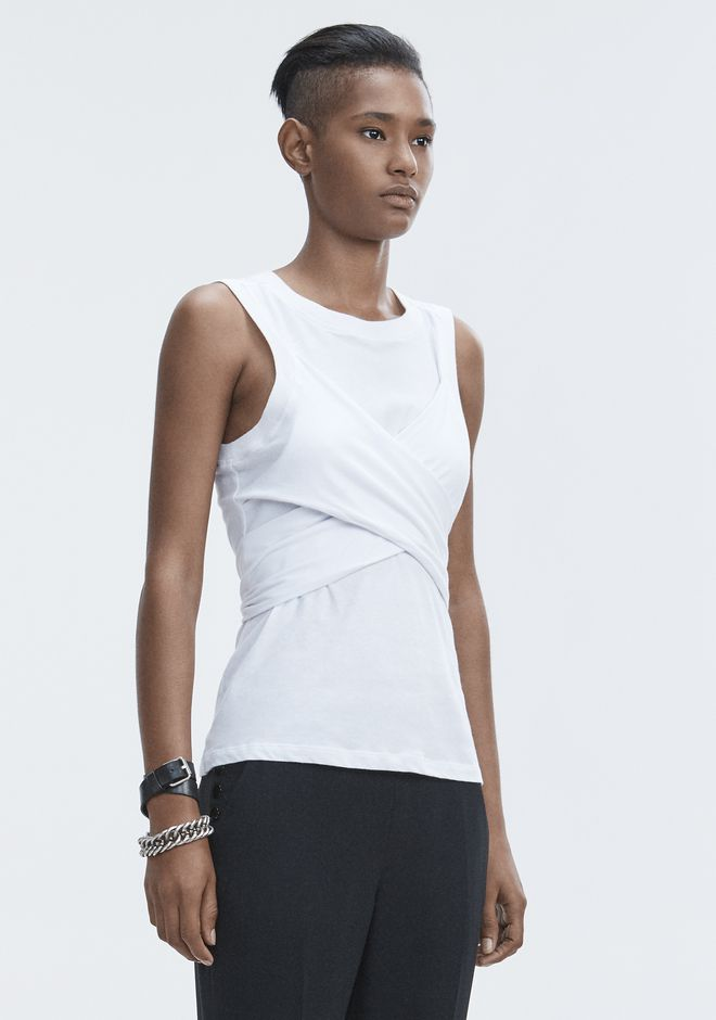 T by ALEXANDER WANG HIGH TWIST TANK TOPS Adult 12_n_a