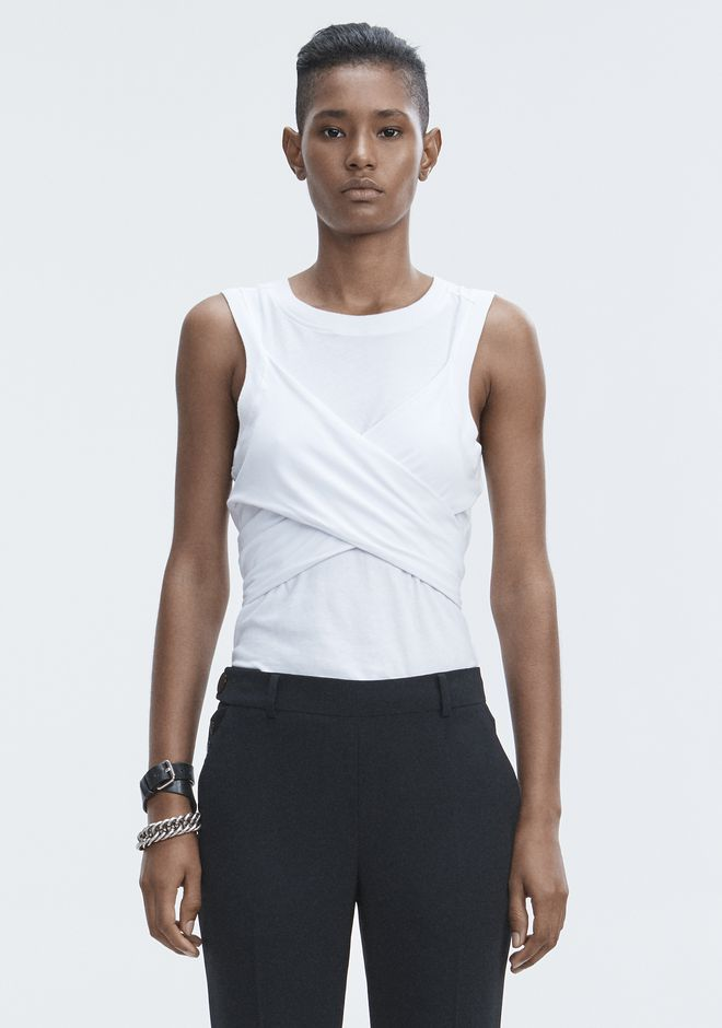 T by ALEXANDER WANG HIGH TWIST TANK TOPS Adult 12_n_e