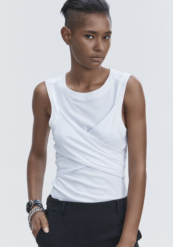 T by ALEXANDER WANG HIGH TWIST TANK TOP Adult 12_n_r
