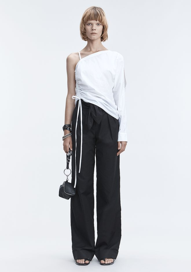 T by ALEXANDER WANG ONE-SLEEVE RUCHED TOP TOP Adult 12_n_f