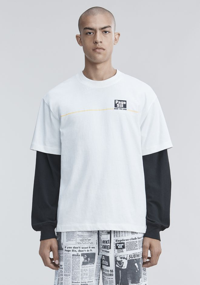 ALEXANDER WANG PAGE SIX T-SHIRT TOP Adult 12_n_e