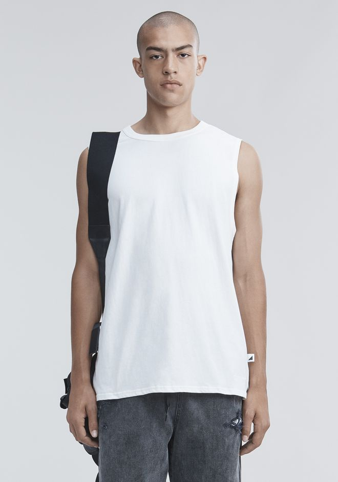 ALEXANDER WANG TOPS Men HIGH TWIST MUSCLE TANK