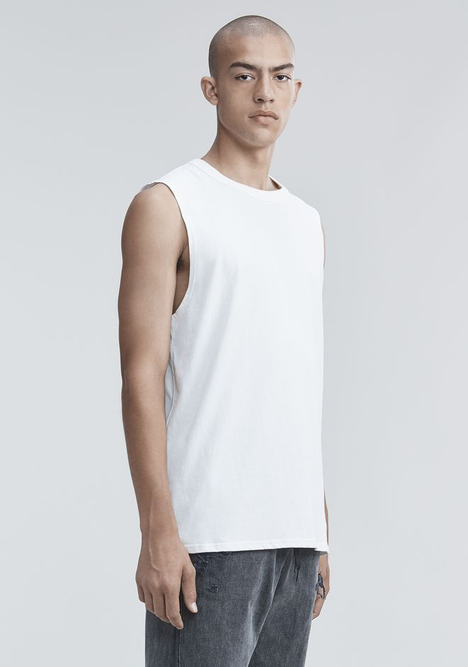 ALEXANDER WANG HIGH TWIST MUSCLE TANK TOP Adult 12_n_a