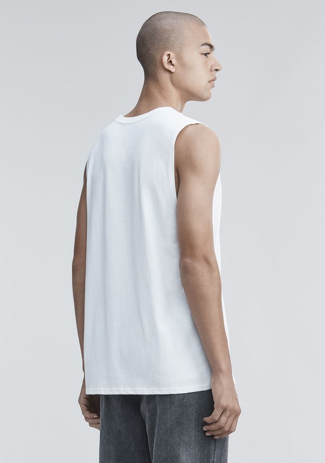 ALEXANDER WANG HIGH TWIST MUSCLE TANK TOP Adult 12_n_d