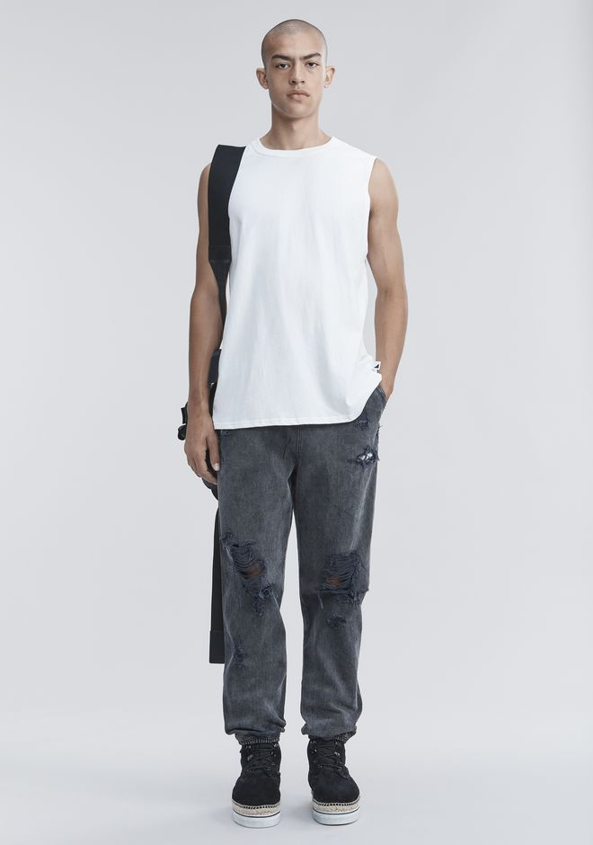 ALEXANDER WANG HIGH TWIST MUSCLE TANK TOP Adult 12_n_f