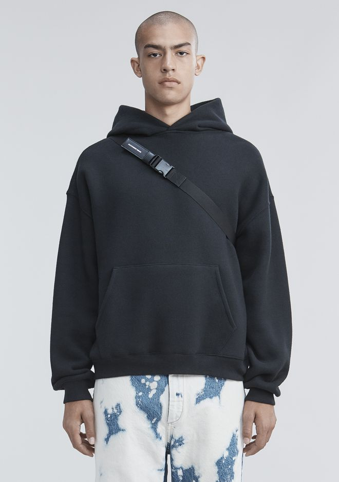 ALEXANDER WANG FLEECE HOODIE TOP Adult 12_n_e