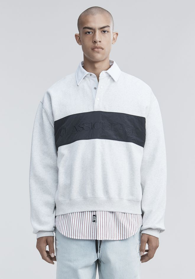 ALEXANDER WANG TOPS FLEECE POLO SHIRT