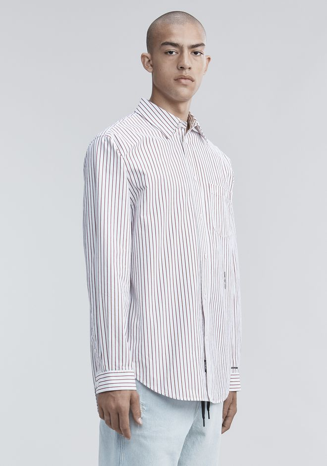ALEXANDER WANG PINSTRIPE PAGE SIX SHIRT TOP Adult 12_n_a
