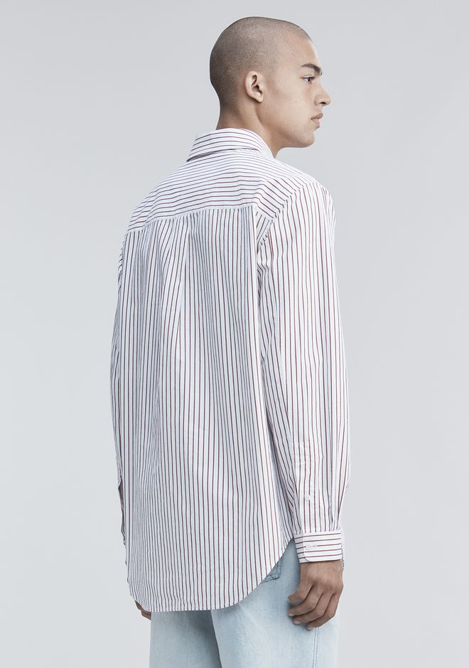 ALEXANDER WANG PINSTRIPE PAGE SIX SHIRT TOP Adult 12_n_d