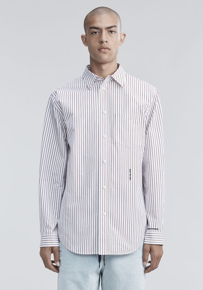 ALEXANDER WANG PINSTRIPE PAGE SIX SHIRT TOP Adult 12_n_e