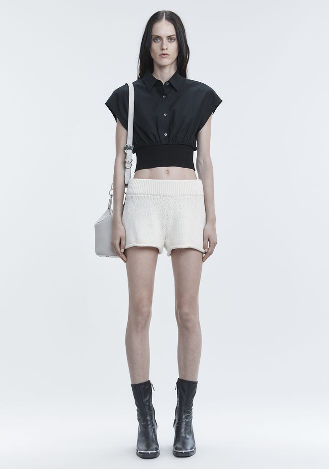 T by ALEXANDER WANG WASHED POPLIN TOP  TOP Adult 12_n_f
