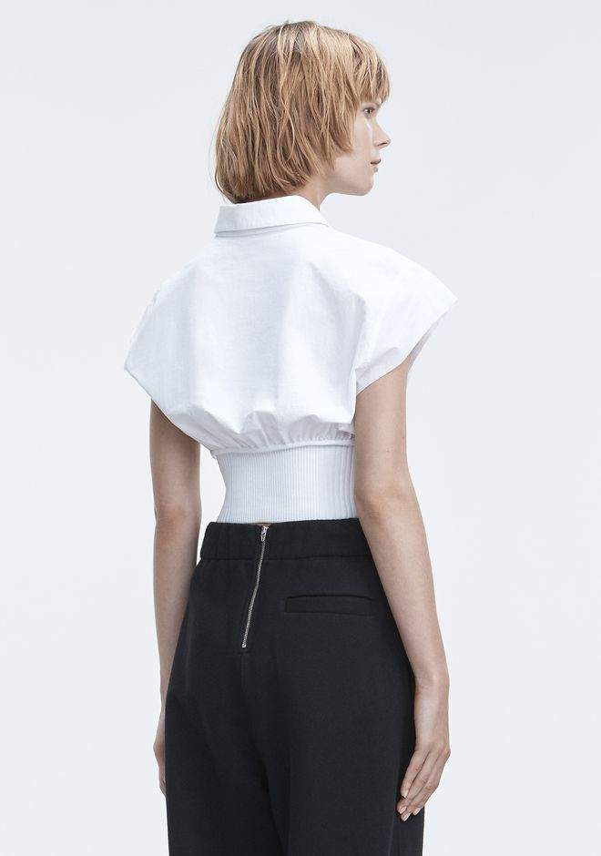 T by ALEXANDER WANG WASHED POPLIN TOP  TOP Adult 12_n_d