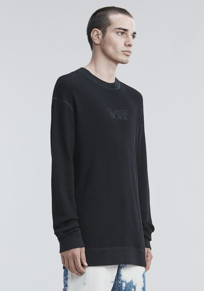ALEXANDER WANG HONEYCOMB THERMAL PULLOVER TOP Adult 12_n_a