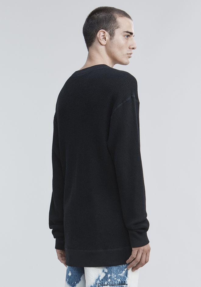ALEXANDER WANG HONEYCOMB THERMAL PULLOVER TOP Adult 12_n_d