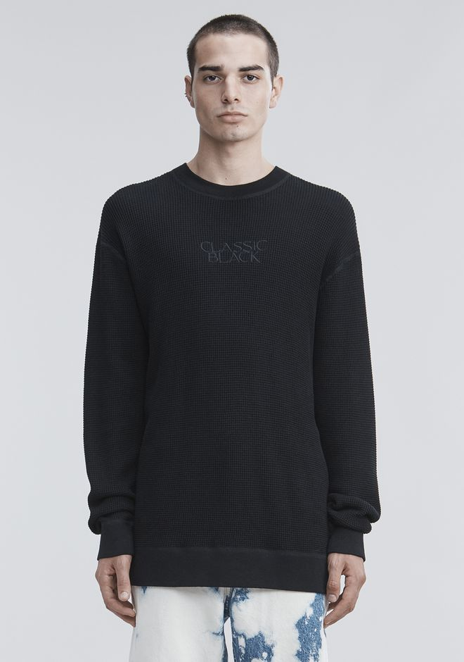 ALEXANDER WANG HONEYCOMB THERMAL PULLOVER TOP Adult 12_n_e